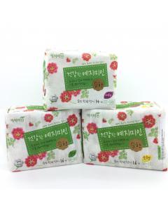 Yejimiin_漢方衛生棉-純棉淡香日用型