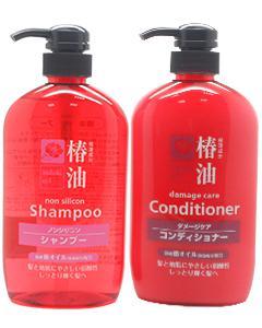 日本熊野_椿油無矽靈(受損髮)洗髮精/潤髮乳600ml #潤髮 缺貨