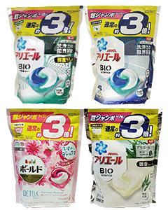 P&G_3D洗衣膠球(大補充包44/46顆) #白/水藍 缺貨